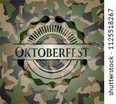 oktoberfest written on a... | Shutterstock .eps vector #1125518267