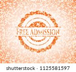 free admission orange mosaic... | Shutterstock .eps vector #1125581597
