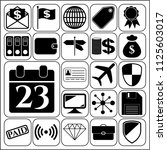 set of 22 business icons ... | Shutterstock .eps vector #1125603017