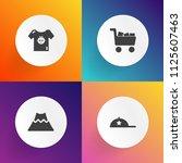 modern  simple vector icon set...   Shutterstock .eps vector #1125607463