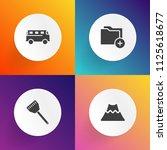 modern  simple vector icon set...   Shutterstock .eps vector #1125618677
