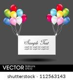 congratulation balloons poster