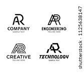 ar vector letter logo template... | Shutterstock .eps vector #1125638147