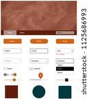 light orange vector design ui...