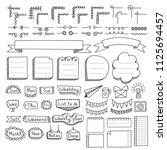 bullet journal hand drawn... | Shutterstock .eps vector #1125694457