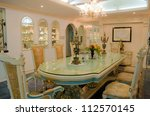 A Dinning room from a nicely decorated house. - stock photo