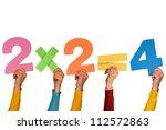 hands showing simple... | Shutterstock . vector #112572863