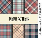set of seamless tartan patterns   Shutterstock .eps vector #1125747737