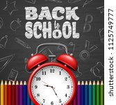back to school background with...   Shutterstock .eps vector #1125749777