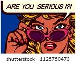 pop art comic book style... | Shutterstock .eps vector #1125750473
