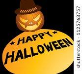happy halloween design with...   Shutterstock .eps vector #1125763757