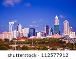 charlotte the queen city skyline at daytime - stock photo
