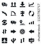 set of vector isolated black... | Shutterstock .eps vector #1125782717