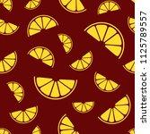 lemon slices seamless pattern....   Shutterstock .eps vector #1125789557