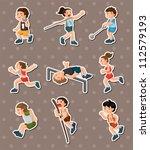 sport stickers | Shutterstock .eps vector #112579193