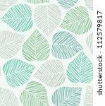 seamless stylized leaf pattern. | Shutterstock . vector #112579817