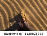 gran canaria  maspalomas dunes  ...   Shutterstock . vector #1125825983
