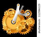 a mechanical pumpkin made up of ... | Shutterstock .eps vector #112586123
