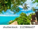 beautiful aerial view of beach... | Shutterstock . vector #1125886637