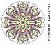 mandala flower decoration  hand ... | Shutterstock .eps vector #1125887453