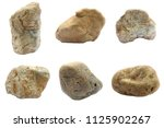 natural stone isolated on white ...   Shutterstock . vector #1125902267