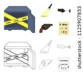 the detective flashlight... | Shutterstock .eps vector #1125907853