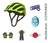 bicycle outfit cartoon icons in ... | Shutterstock .eps vector #1125919823