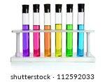 Colored Liquids In Six Test...