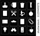 set of 16 icons such as coffee  ...