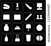 set of 16 icons such as brain ...