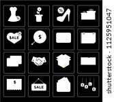 set of 16 icons such as labels  ...