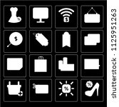 set of 16 icons such as high...