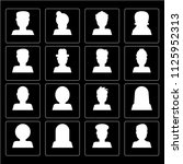 set of 16 icons such as artist  ...