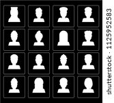 set of 16 icons such as woman ...