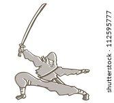 ninja attack | Shutterstock .eps vector #112595777