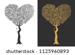 abstract tree with branches and ... | Shutterstock .eps vector #1125960893