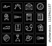 set of 16 icons such as pizza...