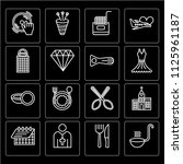 set of 16 icons such as ladle ... | Shutterstock .eps vector #1125961187