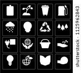 set of 16 icons such as save...