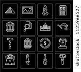 set of 16 icons such as hammer  ...