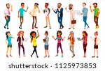 multinational people set vector.... | Shutterstock .eps vector #1125973853