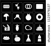 set of 16 icons such as pepper  ...
