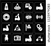 set of 16 icons such as juice ...