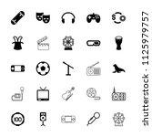 entertainment icon. collection... | Shutterstock .eps vector #1125979757