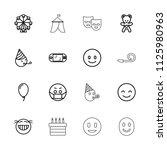 joy icon. collection of 16 joy... | Shutterstock .eps vector #1125980963
