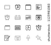 reminder icon. collection of 16 ... | Shutterstock .eps vector #1125981083