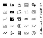 economy icon. collection of 25... | Shutterstock .eps vector #1125981197