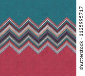 knitted seamless pattern....   Shutterstock . vector #1125995717