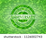 anniversary realistic green... | Shutterstock .eps vector #1126002743
