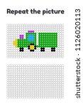 vector illustration. game for... | Shutterstock .eps vector #1126020113